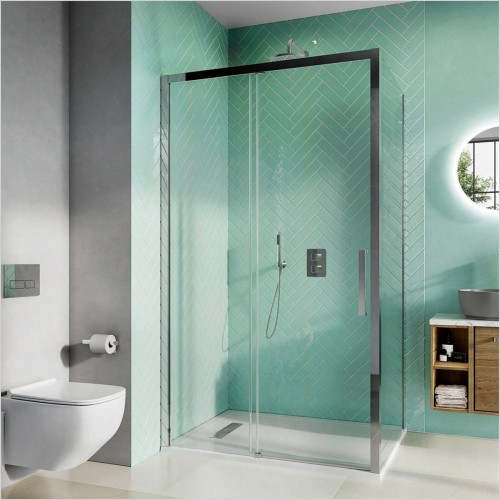 Crosswater - Infinity 8 Single Sliding Door With Soft Close 1200mm