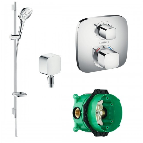 Hansgrohe - Soft Cube Valve With Raindance Select Rail Kit