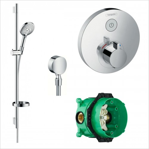 Hansgrohe - Round Select Valve With Raindance Select Rail Kit