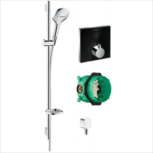 Hansgrohe - Square Select Valve With Raindance Select Rail Kit