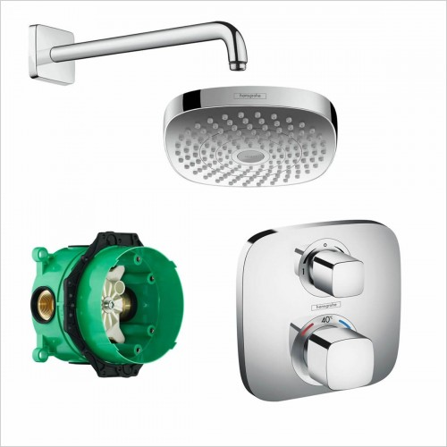 Hansgrohe - Soft Cube Valve With Croma Select 180 Overhead