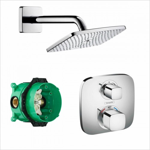 Hansgrohe - Soft Cube Valve With Raindance 240 Overhead