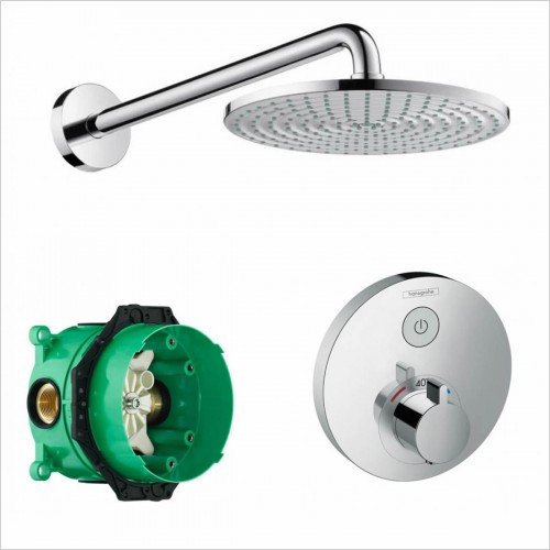 Hansgrohe - Round Select Valve With Raindance 240 Overhead