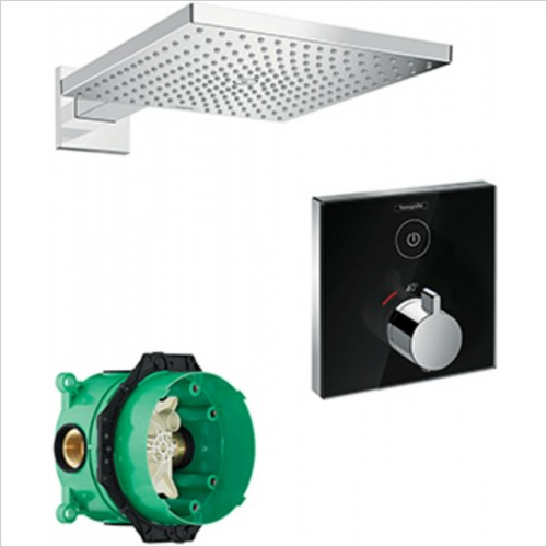 Hansgrohe - Square Select Valve With Raindance 300 Overhead