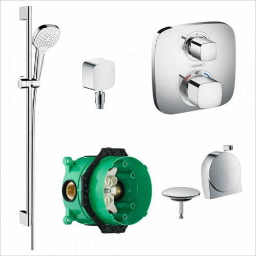 Hansgrohe - Soft Cube Valve With Croma Select Rail Kit & Exafill