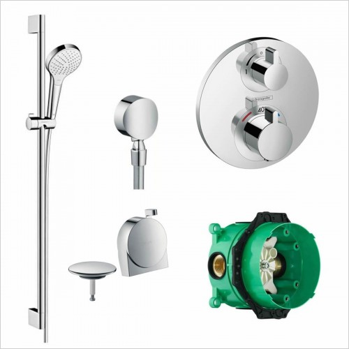 Hansgrohe - Round Valve With Croma Select Rail Kit & Exafill