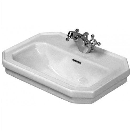 Duravit - 1930 Series Handrinse Basin 500 x 365mm With 1 Tap Hole