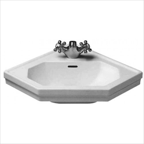 Duravit - 1930 Series Corner Basin 595 x 450mm With 1 Tap Hole