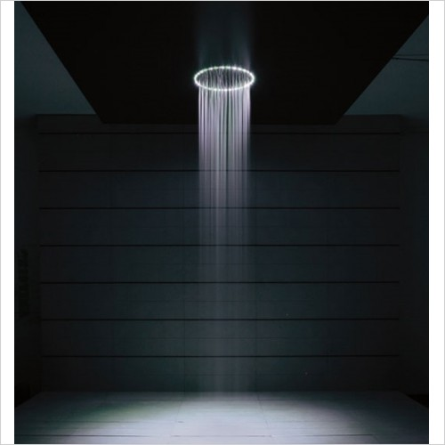 Crosswater - Rio White 240mm Round Overhead Shower With Lights