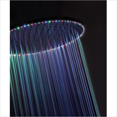 Crosswater - Rio Spectrum 400mm Round Shower Head With Lights
