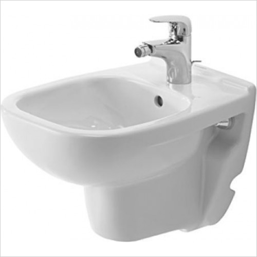 Duravit - D-Code Wall Mounted Compact Bidet 350 x 480mm