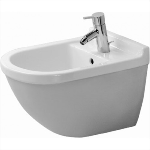 Duravit - Starck 3 Wall Mounted Bidet With Concealed Fixings