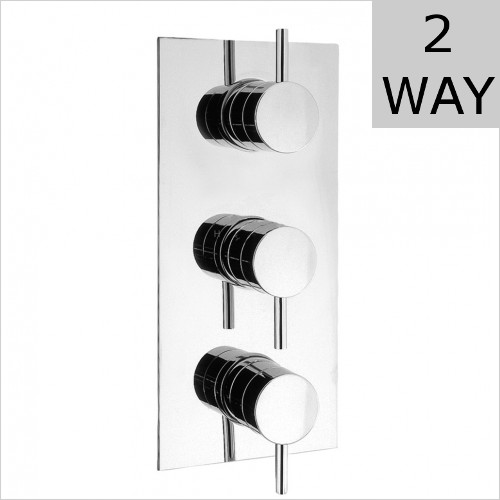 Crosswater - Kai Lever Thermostatic Shower Valve 3 Control (Portrait)